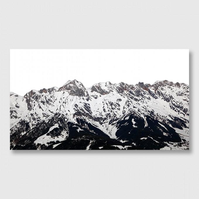 """ZEITLOOPS """"Alpen schwarz weiß"""", Posterprint, 27x48 cm"""