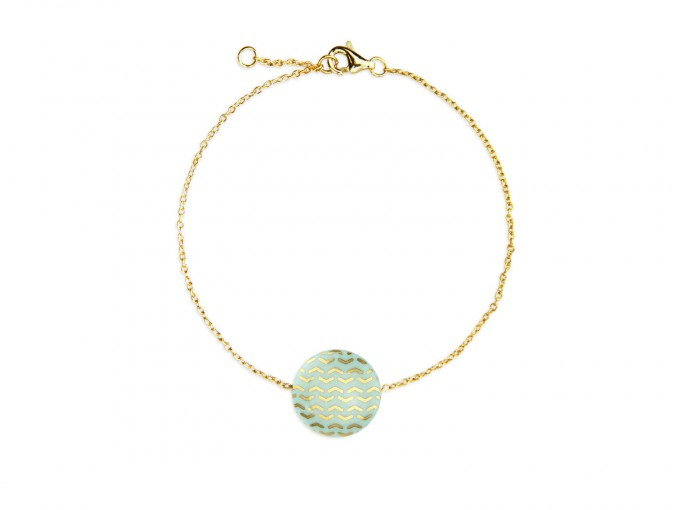 lille mus Porzellan-Armband Dreiecke (Farbwahl)