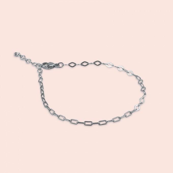 related by objects - just diamonds bracelet - 925 sterlingsilber weiß rhodiniert