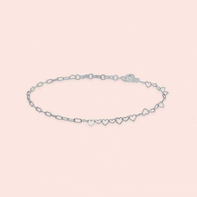 related by objects - just hearts bracelet - 925 Sterlingsilber weiß rhodiniert