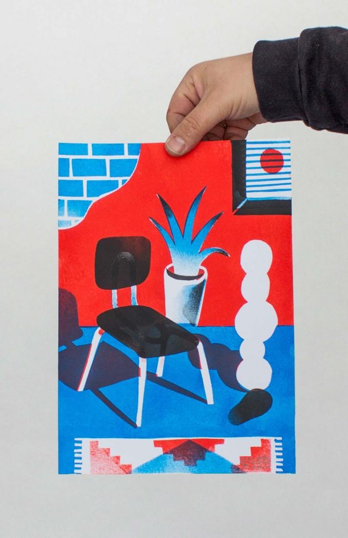 Martin Krusche – Artprint Stencil »Chair« DINA4