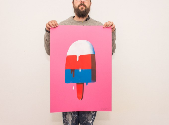 Martin Krusche – Stencil Artprint »Ice«, 50x70cm