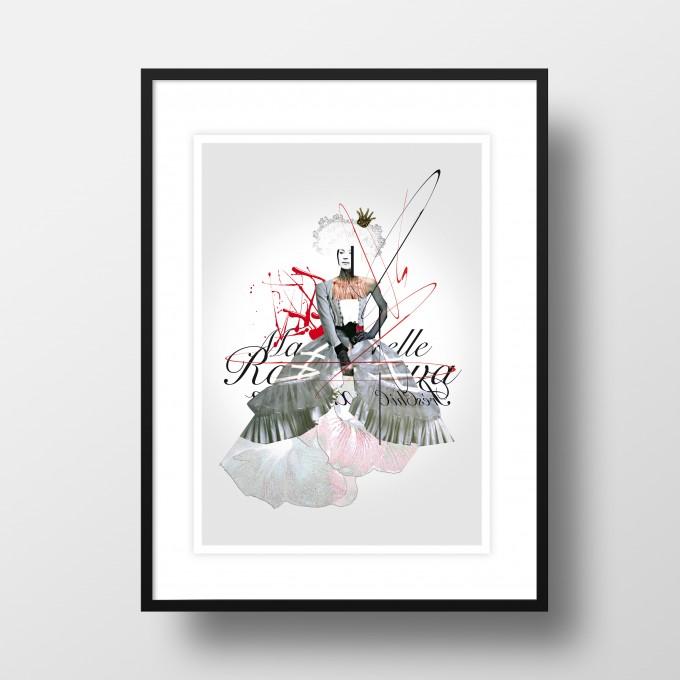 """Amy & Kurt Berlin A4 Artprint """"Mademoiselle"""""""