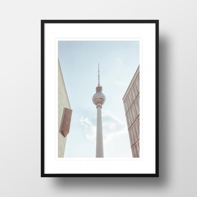 """Amy & Kurt Berlin A4 Artprint """"Fernsehturm Berlin"""""""