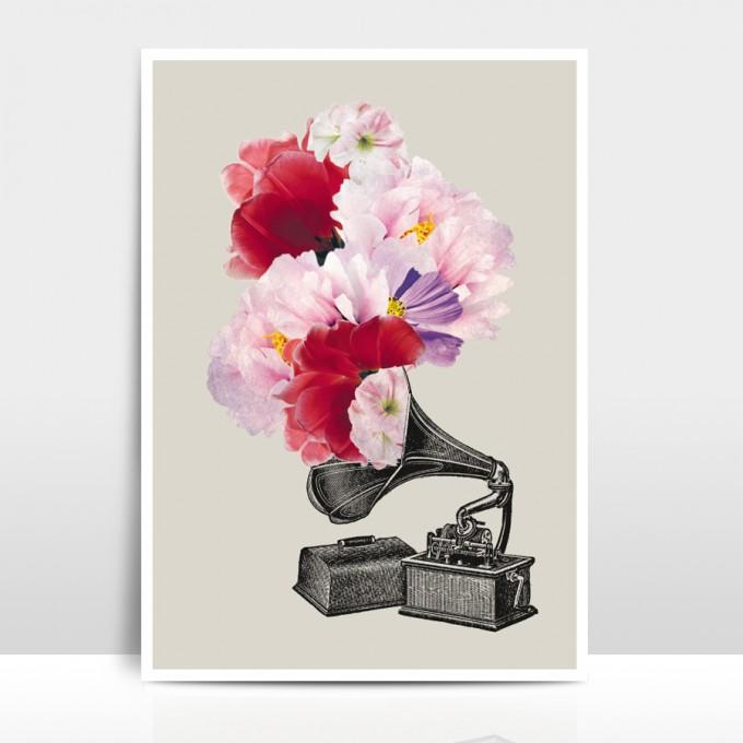 """Amy & Kurt Berlin A4 Artprint """"Blumophon"""""""