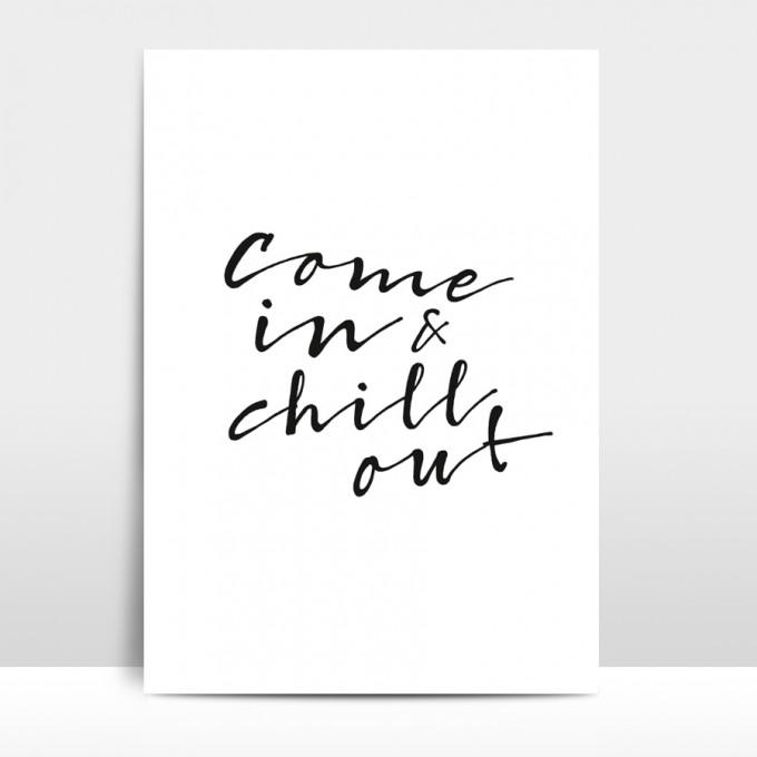 """Amy & Kurt Berlin A3 Artprint """"Chill out"""""""