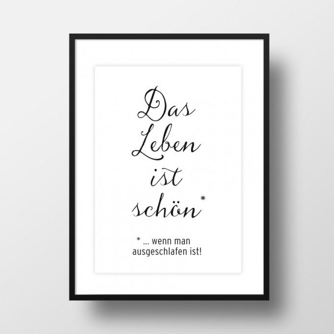 """Amy & Kurt Berlin A4 Artprint """"Das Leben ist schön"""""""