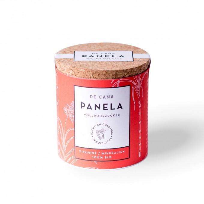 """DE CAÑA Panela aus Kolumbien - Der feine Naturzucker/Kaffeezucker, 125g Zuckerdose """"Azucarera"""""""
