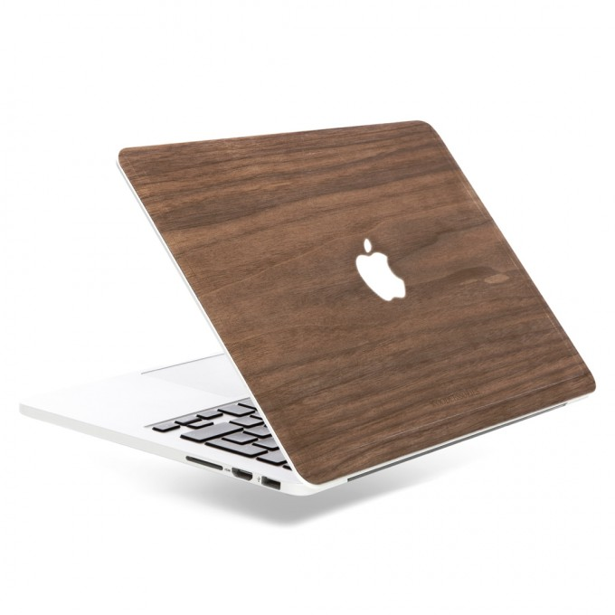 Woodcessories - EcoSkin - Design Apple Macbook Cover, Skin, Schutz für das Macbook mit Apfellogo aus FSC zert. Holz (Macbook 11 Air, Walnuss)