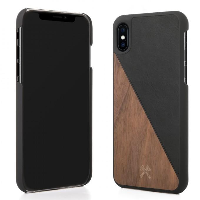 Woodcessories - EcoCase Split - Premium Design Hülle, Case, Cover für das iPhone aus FSC zert. Holz (iPhone X, Walnuss/Schwarz, Ahorn/Blau, Kirsche/Grün)