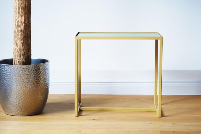 Beistelltisch ELAIS - gold / betongrau