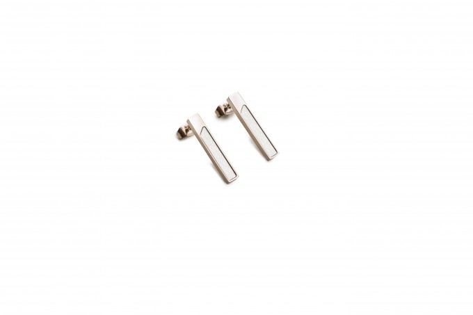 BeWooden Ohrringe mit Holzdetail - Neue Collection - Bright Earrings Rectangle