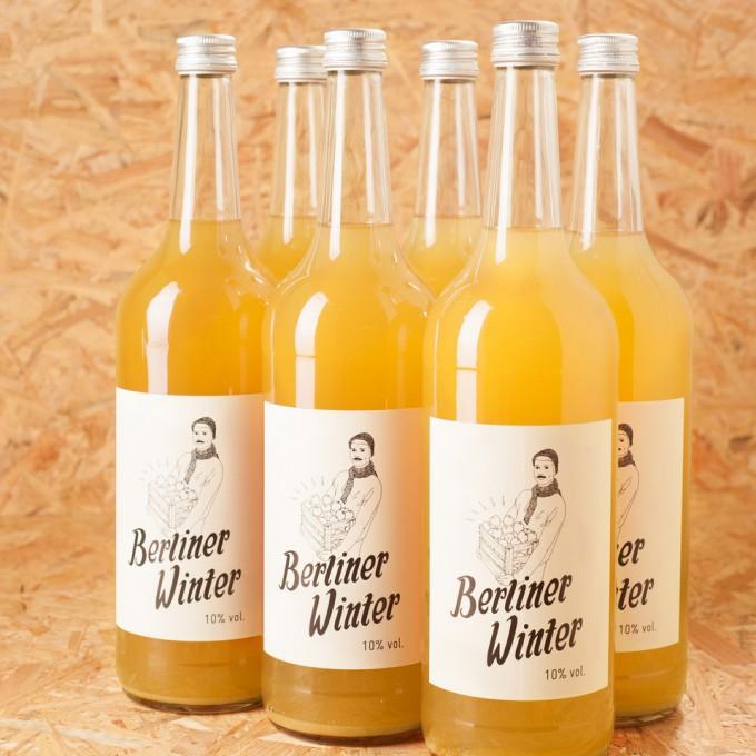 Berliner Winter - Die Alternative zu Glühwein. Alkoholisches Heißgetränk mit Apfelsaft, Wodka und Gewürzen. 1,0l 6er-Set