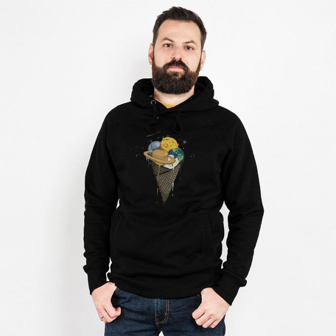 Robert Richter – Galactic Ice Cream - Organic Cotton Unisex Hoodie