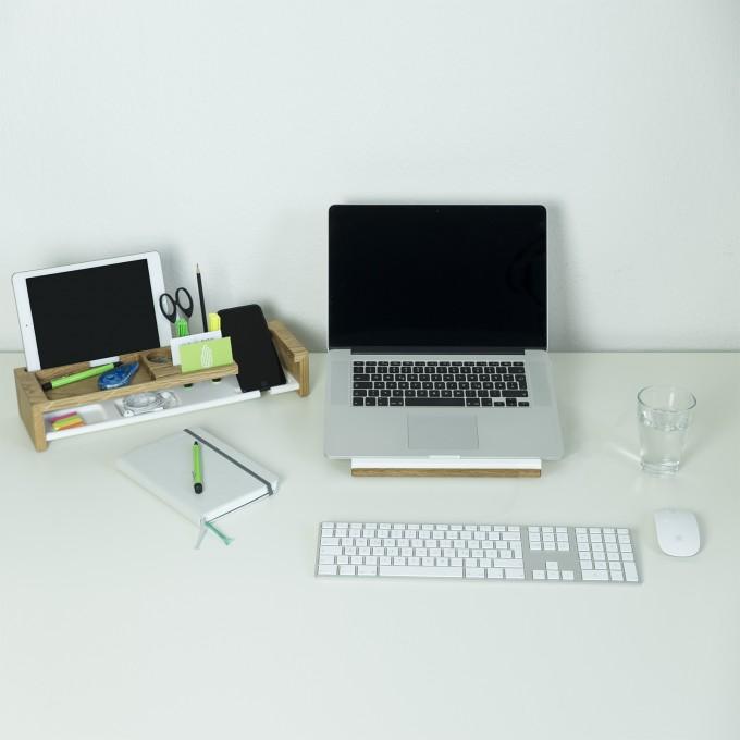Büro Set, Schreibtisch Organizer | klipo und ergonomio | Büroablage, Ordnung | Holzbutiq
