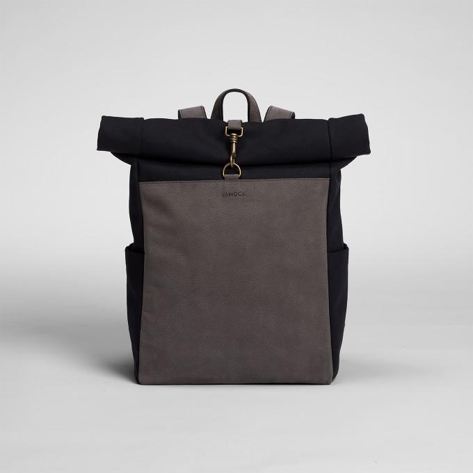 VANOOK – Roll-Top BackpackBlack
