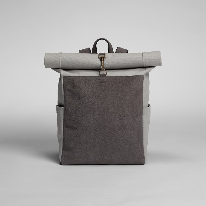 VANOOK – Roll-Top Backpack Grey