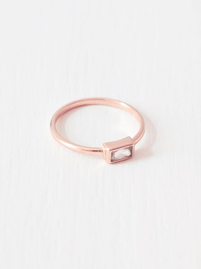 Oh Bracelet Berlin – Baguette Ring aus 925 Sterlingsilber rosévergoldet