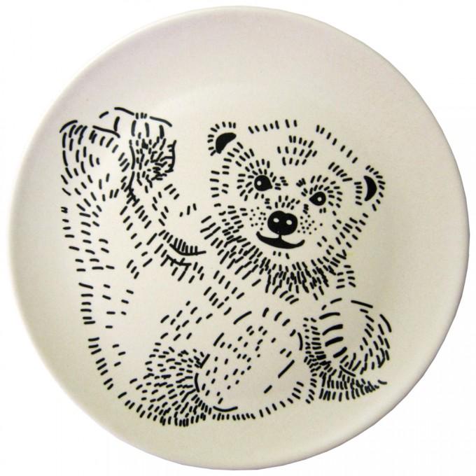 nuukk Bambus Teller liegender Bär