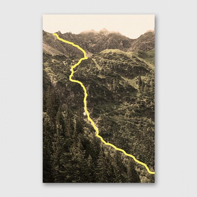 """ZEITLOOPS """"Bergfluss"""", Posterprint, unterschiedliche Formate"""