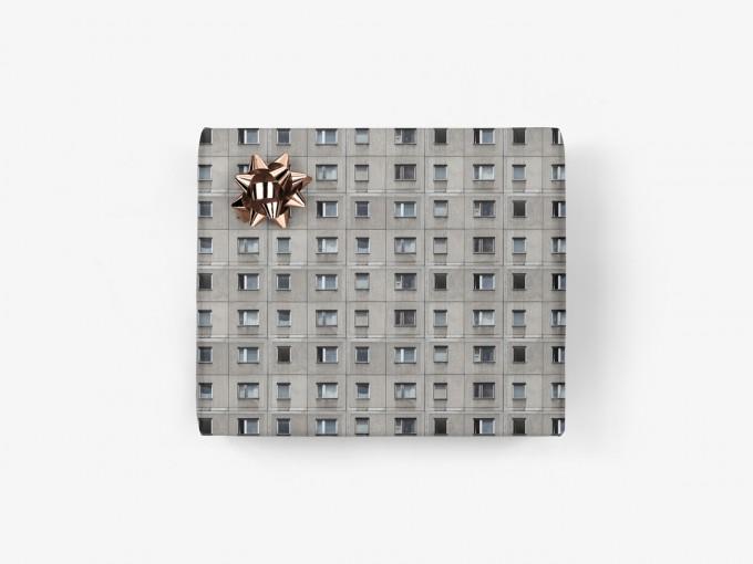5x Geschenkpapier / Berliner Platte No.1 (gefaltet)