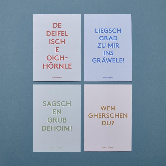 Family Tree Shop / Postkarten-Set / Best of Badisch