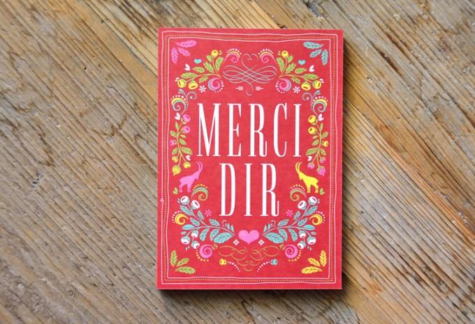 HEIMATFORMAT MERCI DIR auf Bierdeckel-Karton // Bayerische Grußkarte inkl. Naturpapier-Kuvert