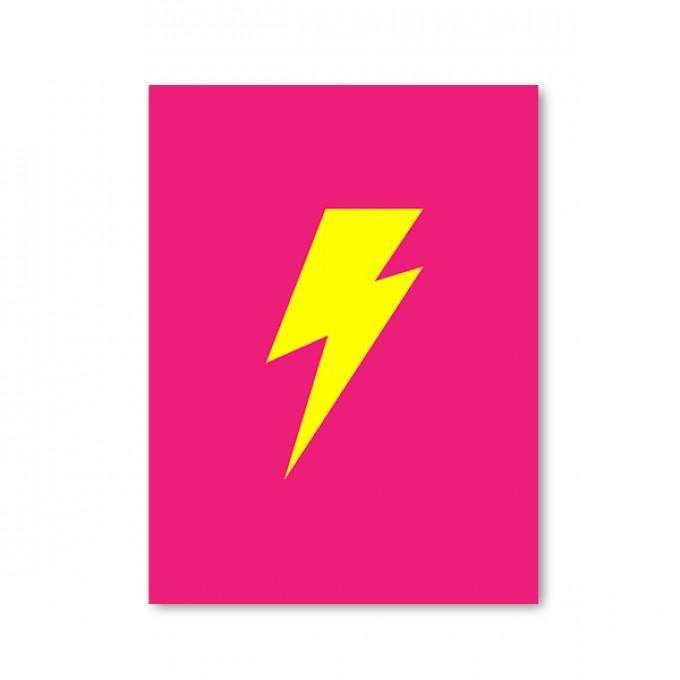 "ZEITLOOPS ""Blitz, pink/gelb, Fineartprint 45x60 cm"