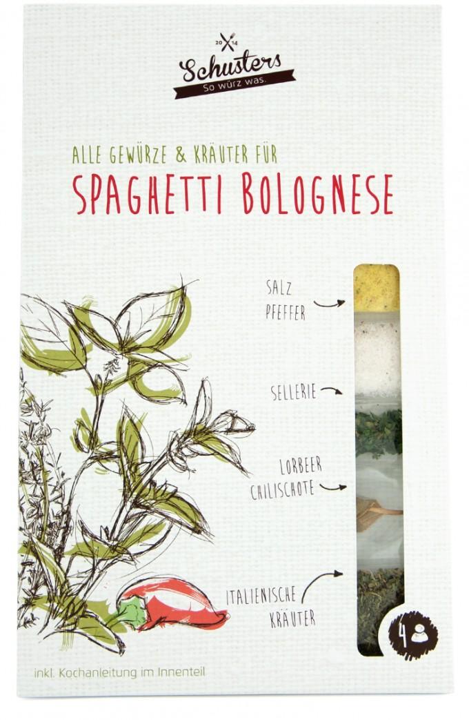 Alle Kräuter und Gewürze für Schusters Bolognese