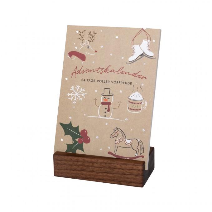 klotzaufklotz Adventskalender mit Karten Nussbaum