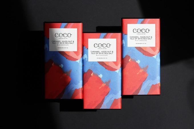 3x Coco Chocolatier Karamell, Haselnuss & Isle of Skye Sea Salz Milchschokolade (37%)