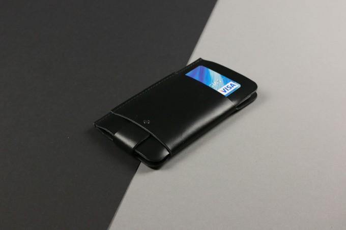 Alexej Nagel Slim Fit Hülle für iPhone 6 Plus / 6S Plus / 7 Plus aus Premium Leder - Schwarz [BL]