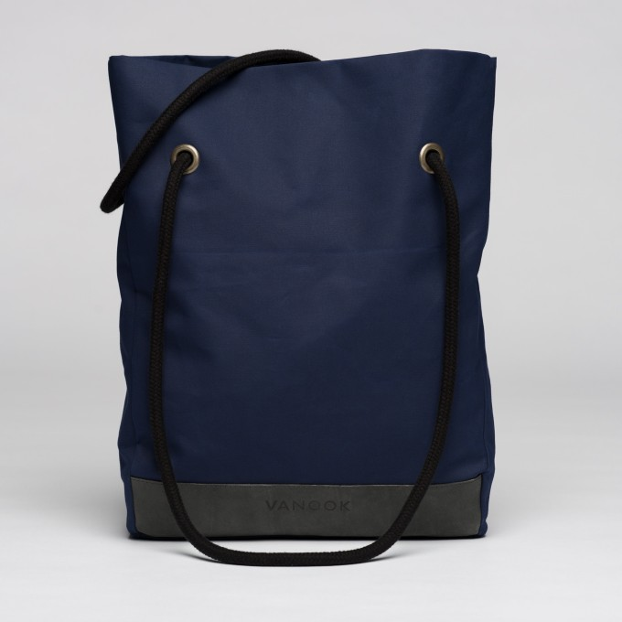 VANOOK Shopper Navy / Stone