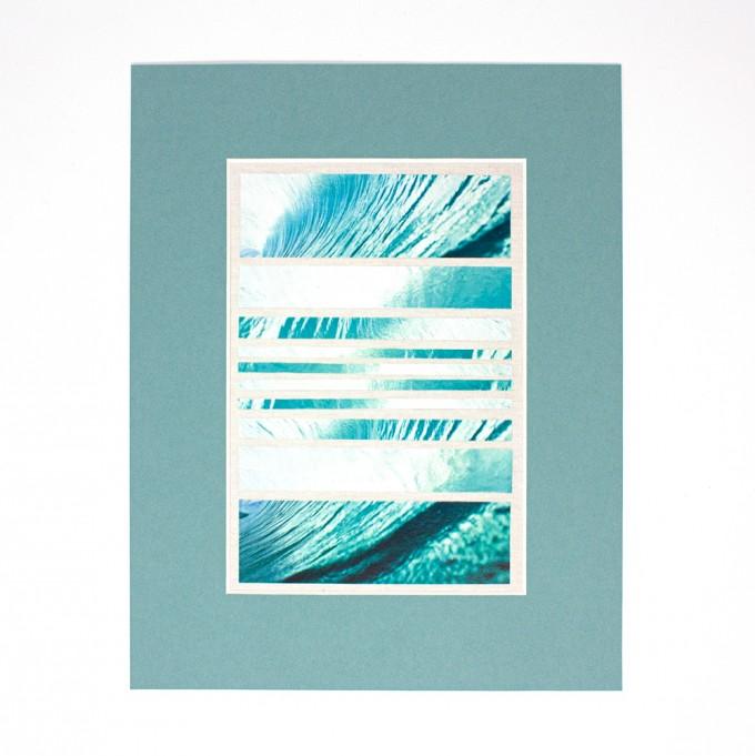 "FORMLOS Berlin –""Catch A Wave"" –Fine Art Print (DIN A5) im Passepartout"