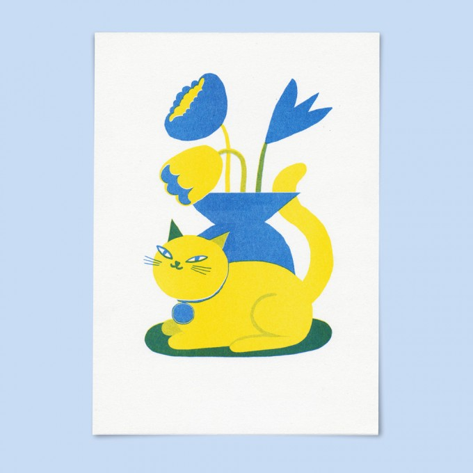 Stefanizen – 'Catflower' A5 Riso Print