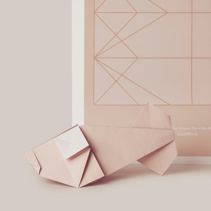 Origami Print Goldfisch von Christina Pauls
