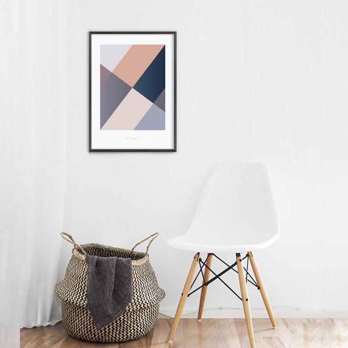 Origami Poster Sunglasses Diva, Blau/Rosa, von Christina Pauls