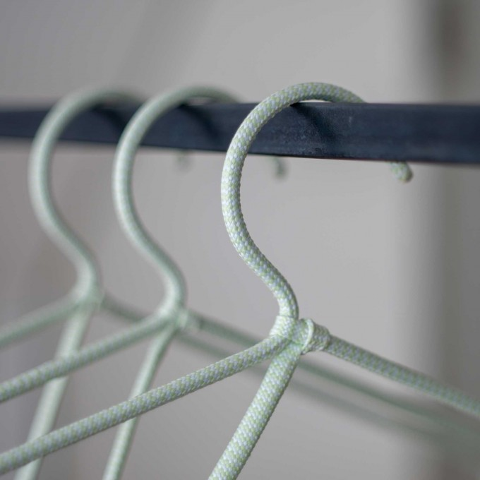 CORD HANGER | dünne Textil-KLEIDERBÜGEL aus Seil | 6er Set | Peppermint Products