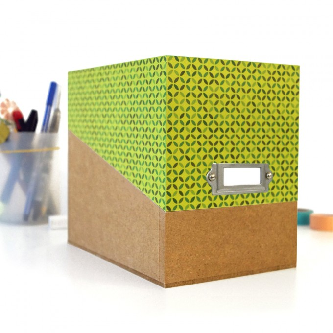 sperlingB – Box mit grünem Deckel und Etikettenschild, Sammelbox mit Registern und Blankokarten, Kiste zum Aufbewahren