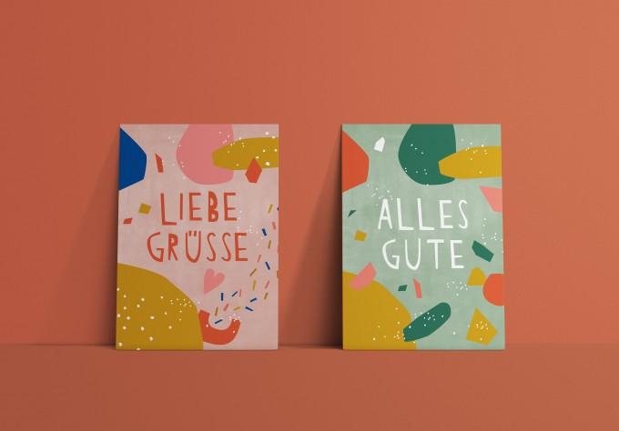 Designfräulein // Postkartenset // Liebe Grüße & Alles Gute
