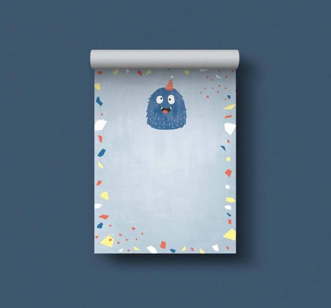 Designfräulein // Notizblock DIN A6 // Monster blau