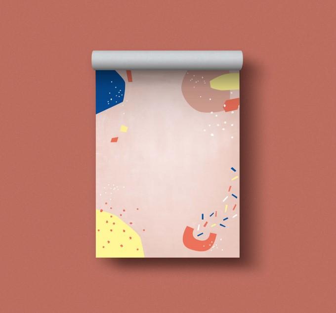 Designfräulein // Notizblock DIN A6 // Muster rosa