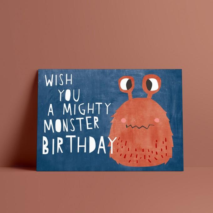 Designfräulein // Postkarte // Mighty Monster