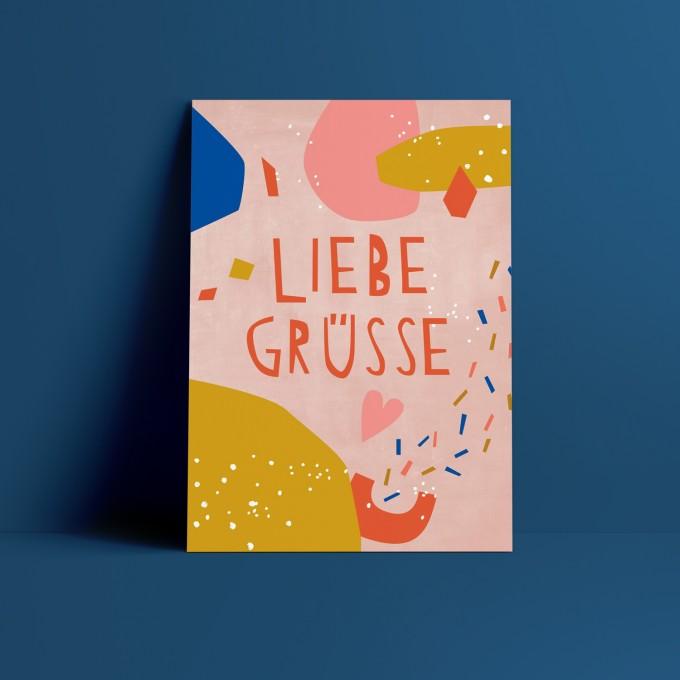 Designfräulein // Postkarte // Liebe Grüße