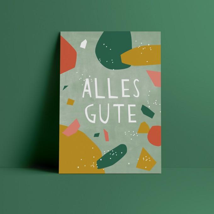 Designfräulein // Postkarte // Alles Gute