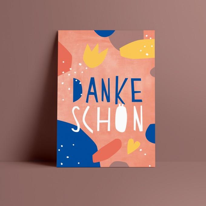 Designfräulein // Postkarte // Dankeschön