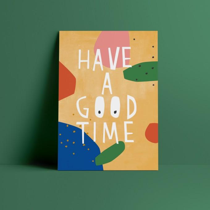 Designfräulein // Postkarte // Have a good Time