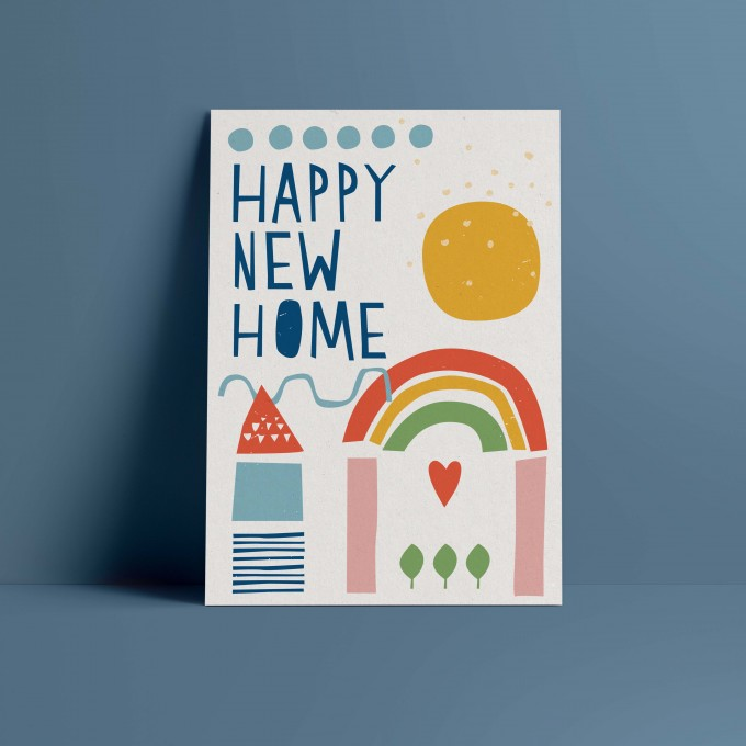 Designfräulein // Postkarte // Happy New Home