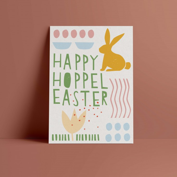 Designfräulein // Postkarte // Happy Hoppel Easter