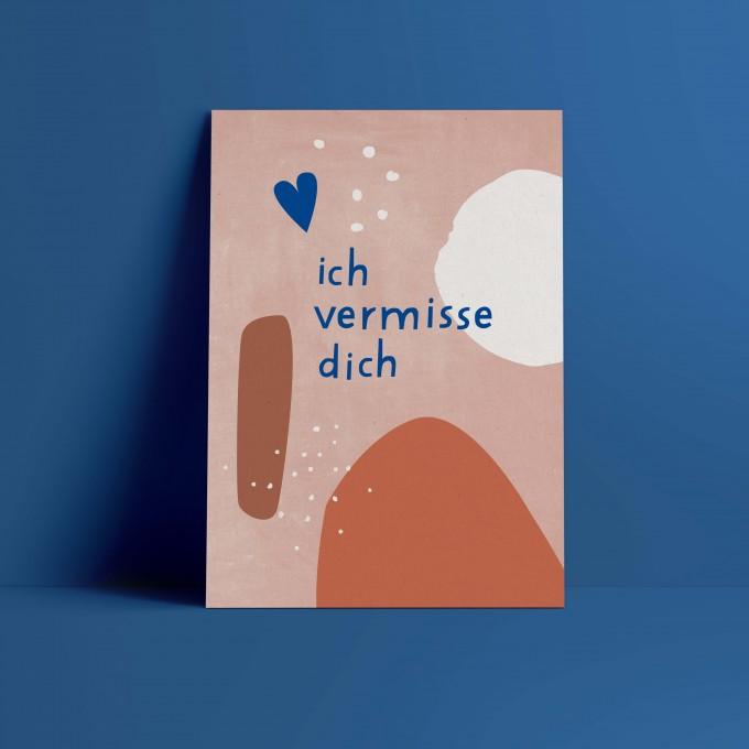 Designfräulein // Postkarte // ich vermisse dich